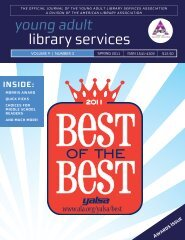 Spring 2011 - YALSA - American Library Association