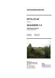 Detaljplan för del av SKAVERÖD 1:5 - Uddevalla kommun