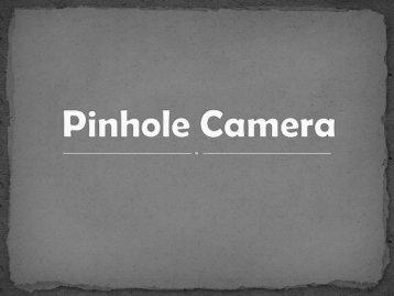 How Pinhole Camera Works