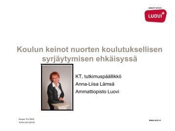 Koulun keinot nuorten koulutuksellisen syrjäytymisen ... - Edu.fi