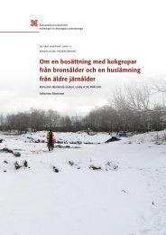 UV Väst Rapport 2009:13 - arkeologiuv.se