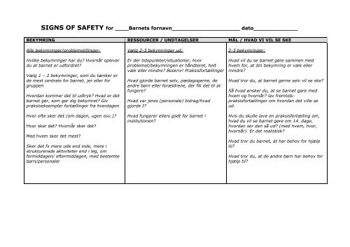 signs of safety model