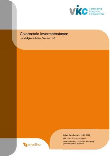 Richtlijn: Colorectale levermetastasen (1.0) - NVGIC