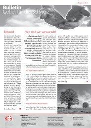 2 2013 Aussen - Gebet für die Schweiz