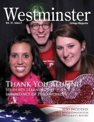 Thank You Alumni! - Westminster College