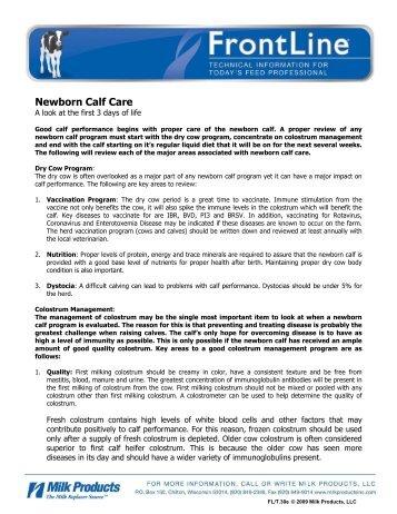 T.30e Newborn Calf Care - Sav-A-Caf Milk Replacers from Milk ...