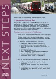 Next Steps - Croxley Rail Link