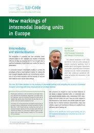 New markings of intermodal loading units in Europe - Kombiverkehr