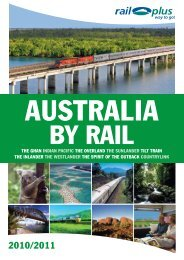 the ghan indian pacific the overland the sunlander tilt ... - Rail Plus