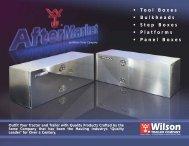 • Tool Boxes • Bulkheads • Step Boxes • Platforms ... - Wilson Trailer