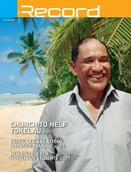 ChURCh TO hELP TOkELAU page 9 - RECORD.net.au