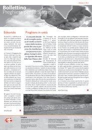 Editoriale Preghiera in unità - Gebet für die Schweiz