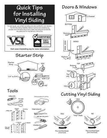 Vinyl siding checklist