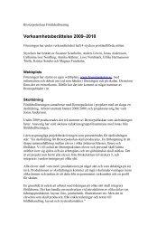 Verksamhetsberättelse 2009–2010 - Föräldraföreningen