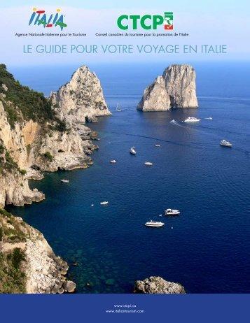 Conseil canadien de tourisme pour la promotion de l'italie - ITALY