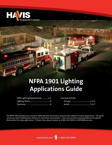 NFPA 1901 Lighting Applications Guide