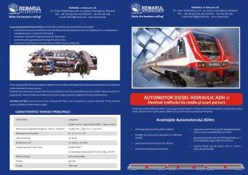 Fisa prezentare Automotor Diesel Hidraulic ADH11 - Remarul