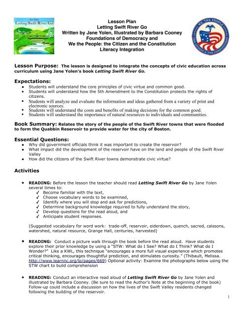 Letting Swift River Go Lesson Plan 12:22 - Civiced-ri org