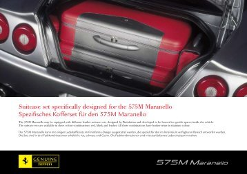 Suitcase set specifically designed for the 575M Maranello ...