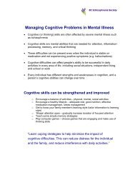Managing Cognitive Problems in Mental Illness - British Columbia ...