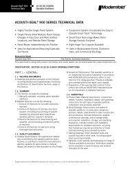 acousti-seal® 900 series technical data - Modern Door & Equipment ...