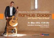 Wäsentlich»-Tour zum 30-Jahre-Bühnenjubiläum - Markus Dolder