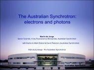 Martin deJonge - Synchrotron.pdf - School of Physics Outreach ...