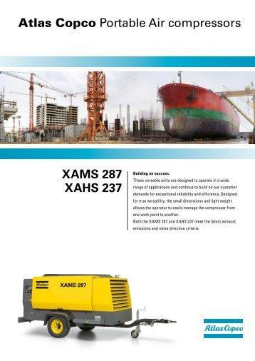 XAMS 287 XAHS 237 Atlas Copco Portable Air compressors