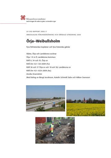 UV Syd Rapport 2009:17 - Riksantikvarieämbetet, avdelningen för ...