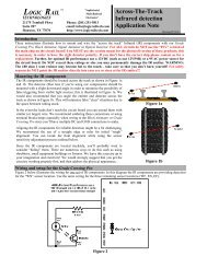 LOGIC RAIL Across-The-Track Infrared detection Application Note