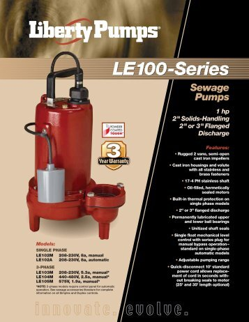 LE100-Series LE100-Series - Liberty Pumps