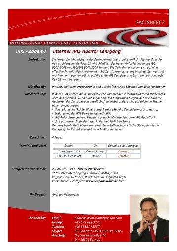 (Microsoft PowerPoint - 2009 Kurs 2 web [Kompatibilit ... - CC-Rail