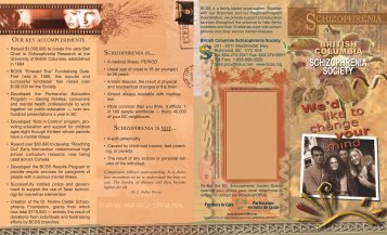 BCSS: Provincial Brochure - British Columbia Schizophrenia Society