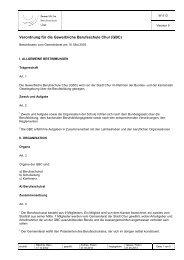 W 513 Verordnung für die Gewerbliche Berufsschule Chur (GBC)