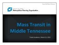 Transit Academy | March 21, 2012 - Nashville Area MPO