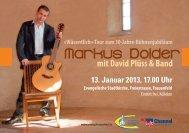 mit David Plüss & Band «Wäsentlich - Markus Dolder