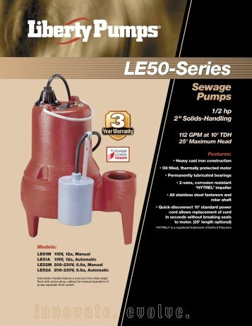 LE50-Series - Liberty Pumps