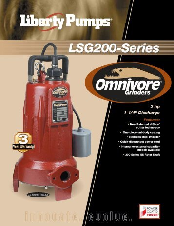 LSG200-Series Grinders - Liberty Pumps