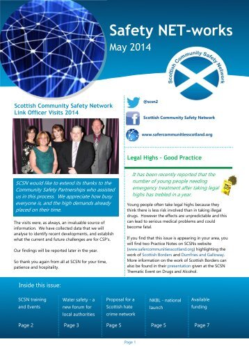 May Newsletter.pdf - Scottish Community Safety Network's