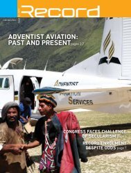 adventist aviation: past and presentpages 3,7 - RECORD.net.au