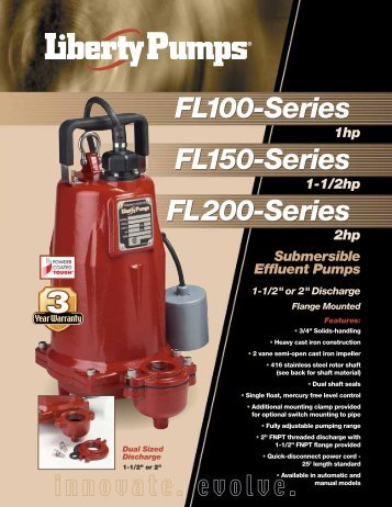 FL100-Series FL150-Series FL200-Series - Liberty Pumps