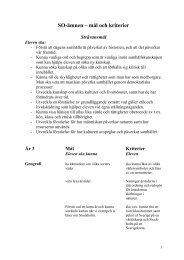 SO-ämnen – mål och kriterier - Bagarmossen Brotorps skolor