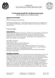 Verksamhetsmål för skolbarnomsorgen - Bagarmossen Brotorps ...