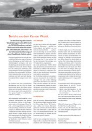 Bericht aus dem Kanton Waadt - Gebet für die Schweiz