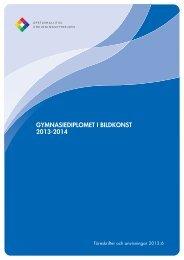 GYMNASIEDIPLOMET I BILDKONST 2013-2014 - Edu.fi