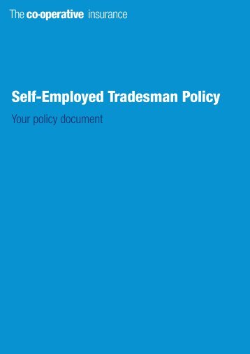 Self-Employed Tradesman Policy - The Co-operative Insurance