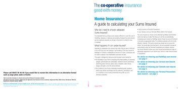 A guide to calculating your - The Co-operative Insurance