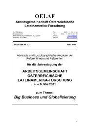 Boletín 12 (2001) - Lateinamerikaforschung Austria