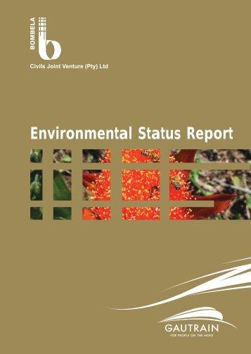 Environmental Status Report - Gautrain