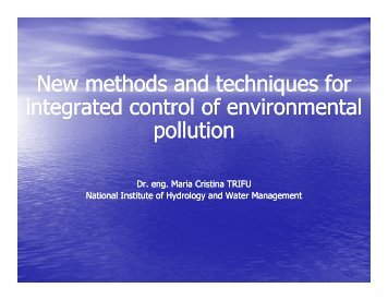 New methods and techniques for the integrated control of ...